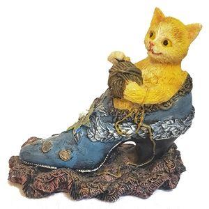 Cornerstone Creations Ceramic Kitten in a Boot
